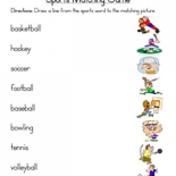 Sports Worksheets For Preschool
