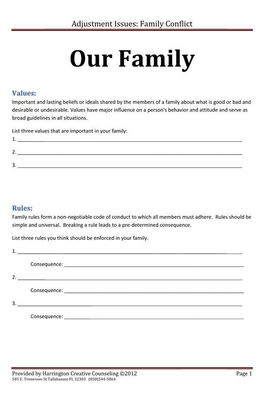 Strengthening Family  Creating A Family Mission Statement