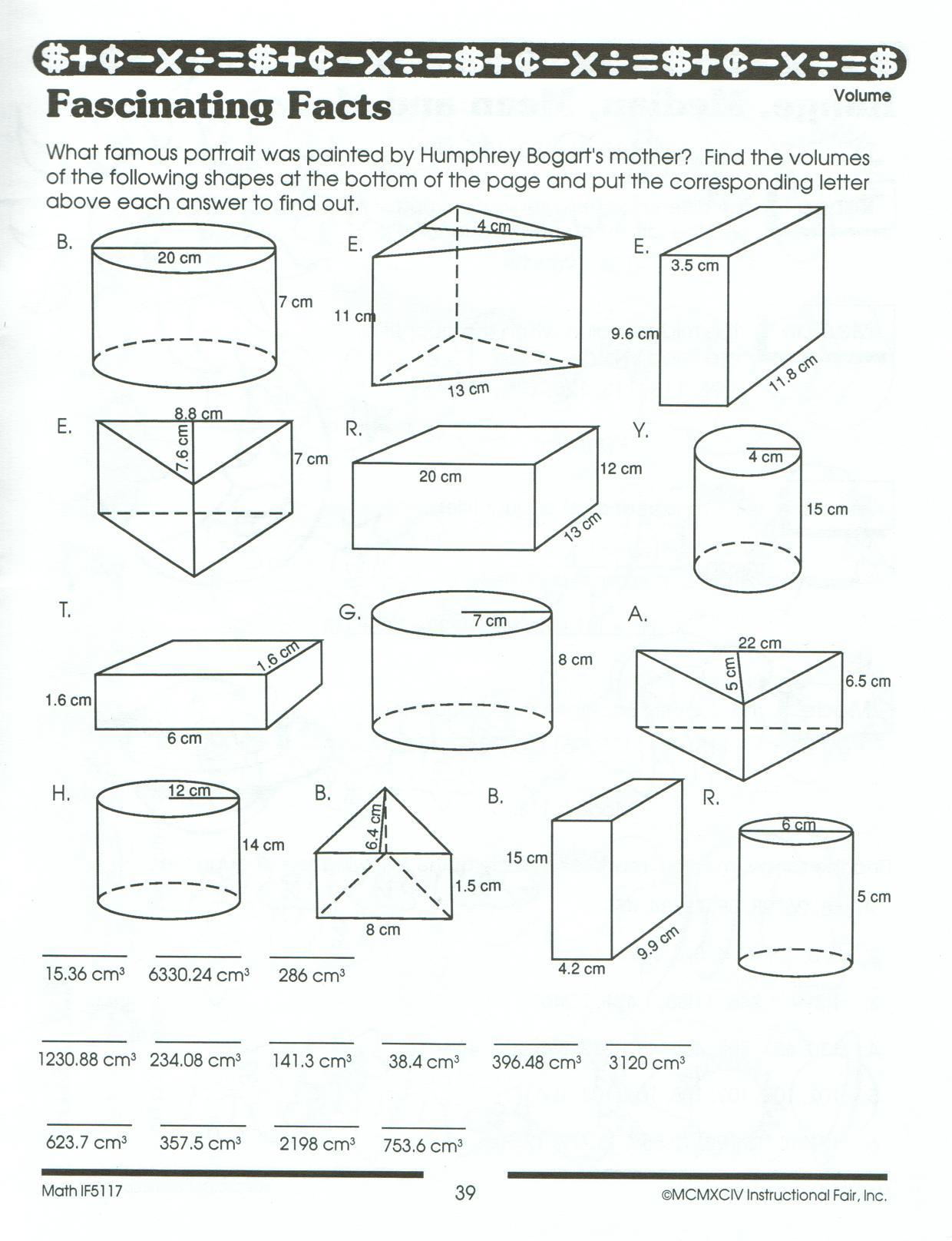 Surface Area Practice Worksheet The Best Worksheets Image