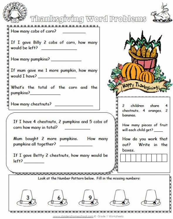Thanksgiving Worksheets – Family Therapy – Thanksgiving Blessings