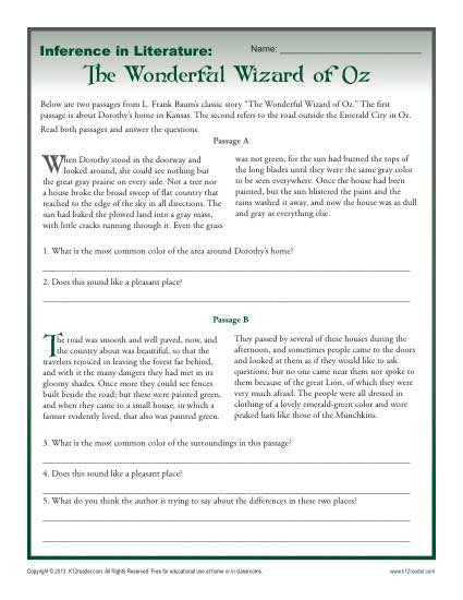 Theme Worksheets For Middle School Worksheets For All