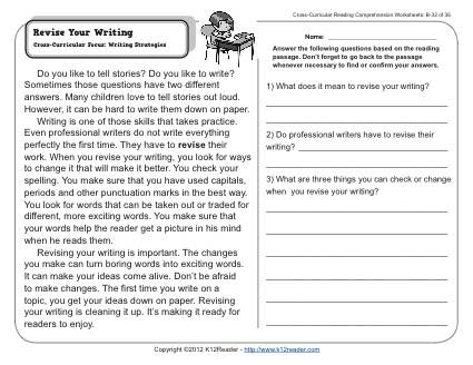 Third Grade Writing Worksheet Worksheets For All