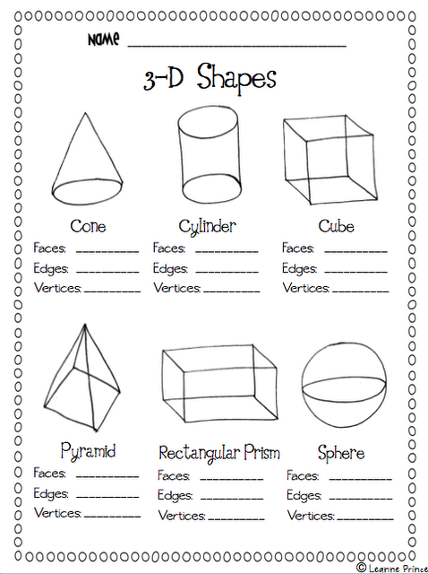 This Would Go Perfectly With The 3d Shape Attributes Anchor Chart