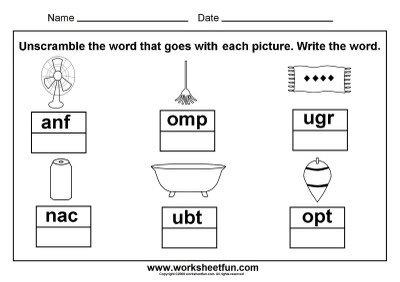 Three Letter Words For Kindergarten Worksheets Worksheets For All