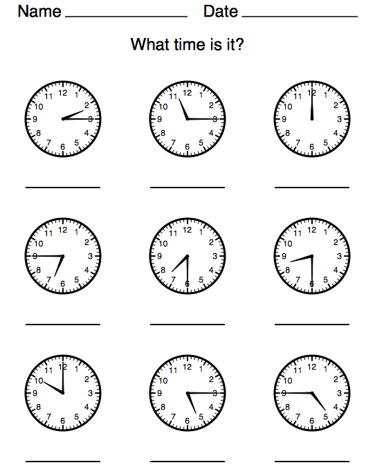 Time Worksheets » Time Worksheets With Half Past