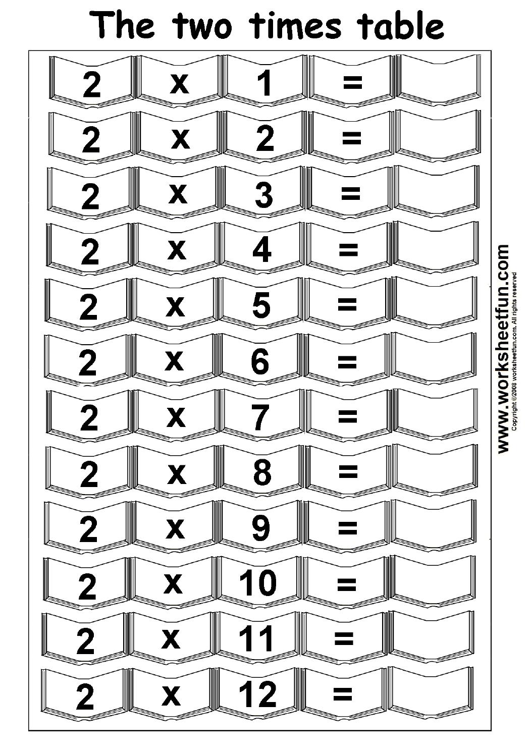 Times Tables Worksheet Printable The Best Worksheets Image