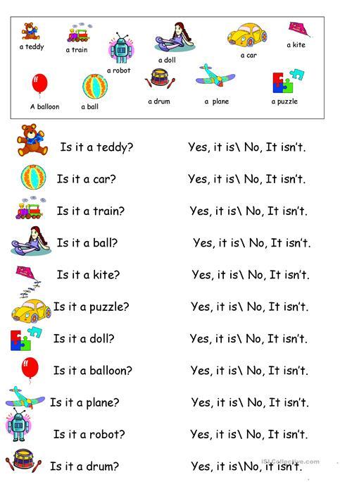 Toys Vocabulary Practicing Worksheet