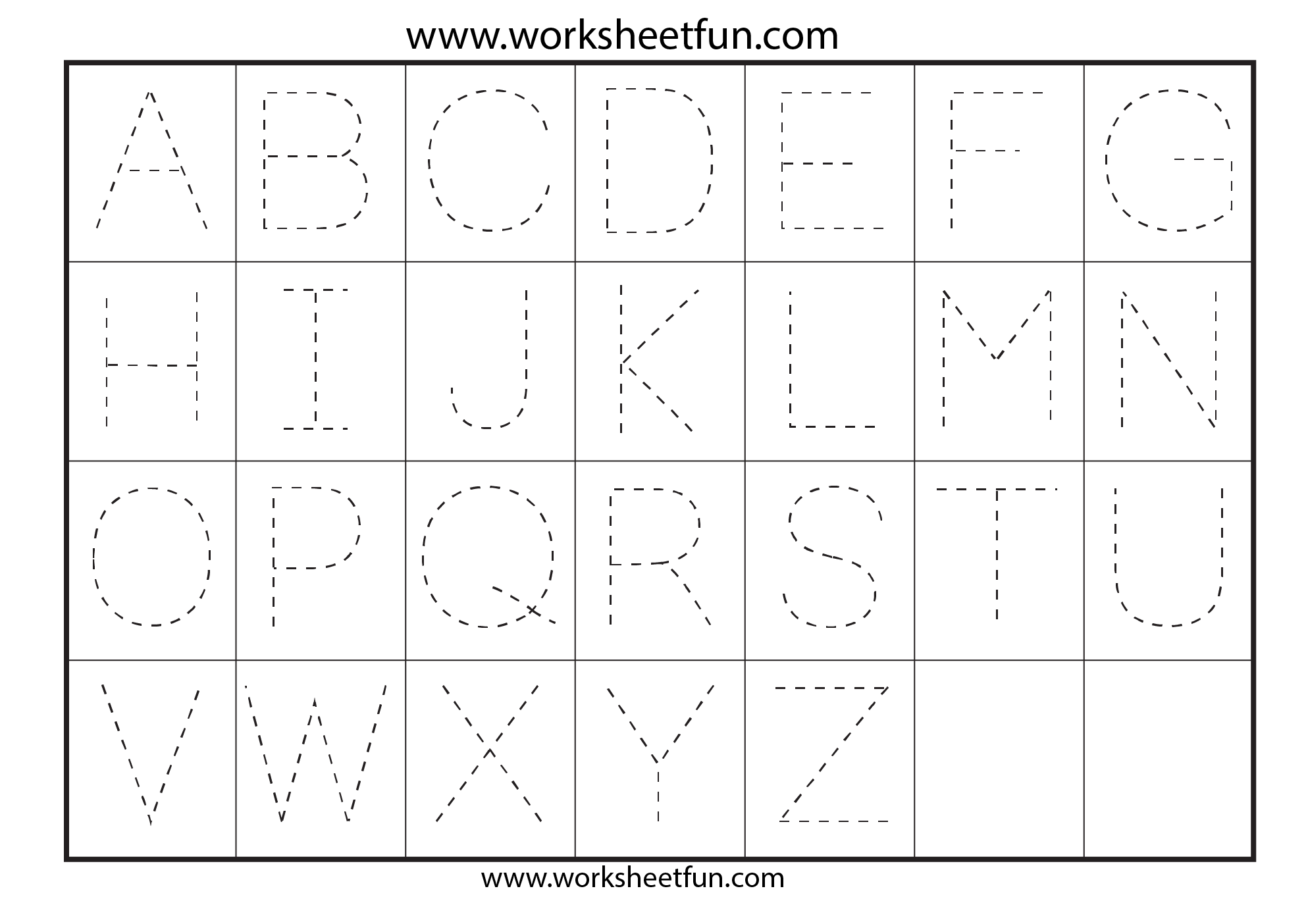 Trace Alphabet Worksheets Az The Best Worksheets Image Collection