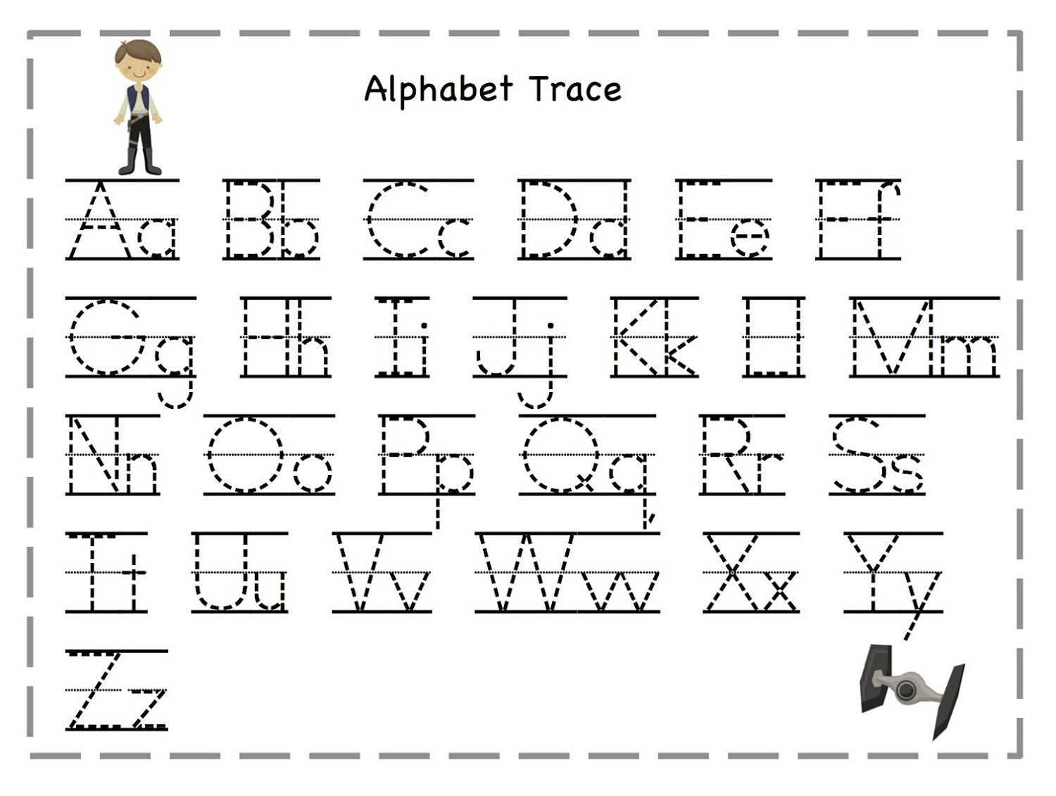 Tracing Alphabet Worksheet The Best Worksheets Image Collection
