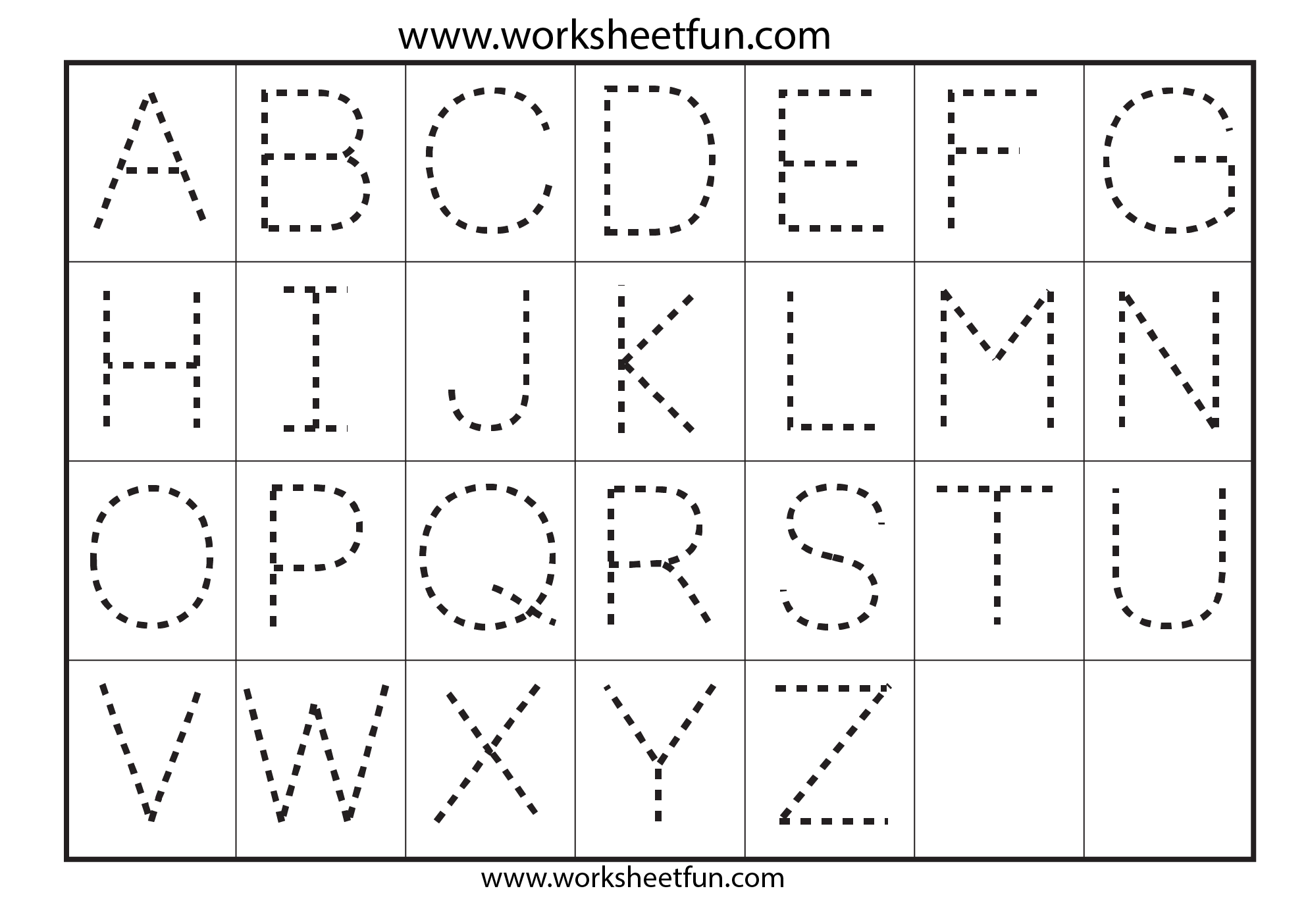 Tracing Alphabets Worksheets For The Best Worksheets Image