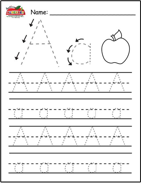 Tracing Letter A Worksheets For Preschool Worksheets For All