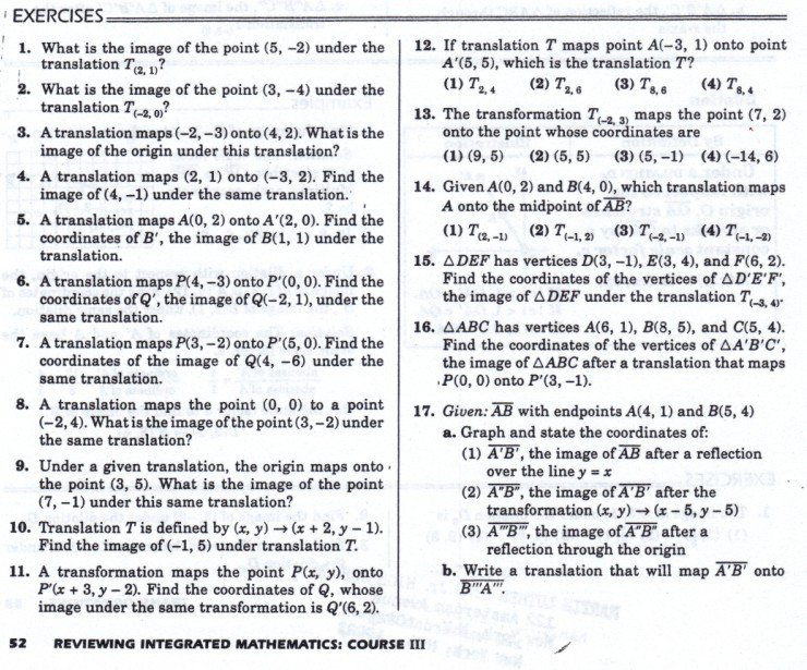 Transformations Geometry Worksheets Worksheets For All