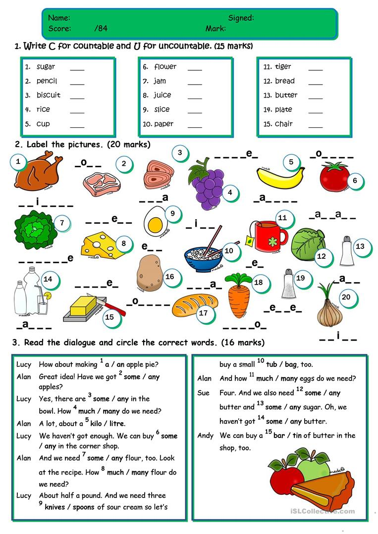Uncountable Nouns Worksheets The Best Worksheets Image Collection