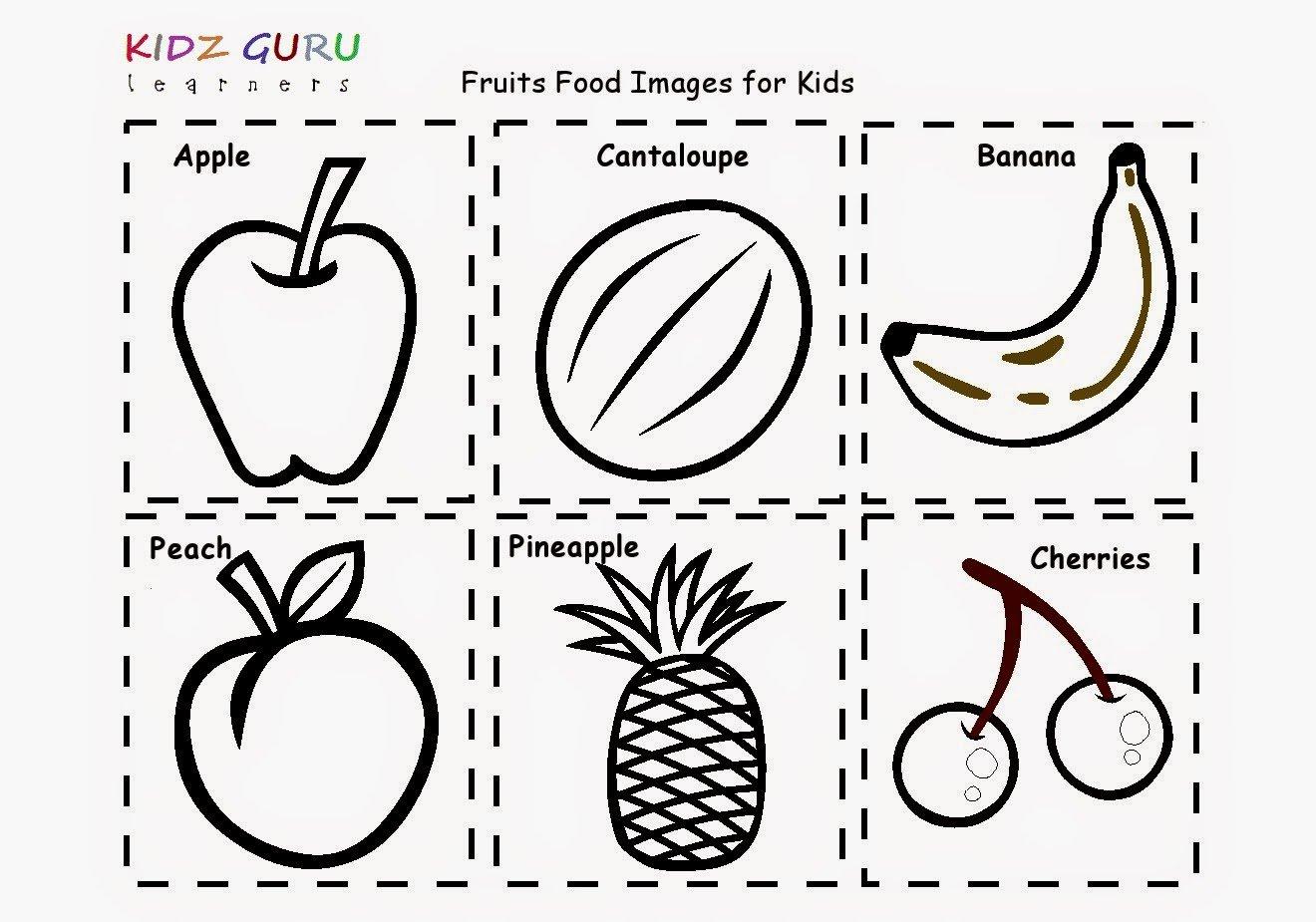Vibrant Ideas Fruits Coloring Worksheets For Kindergarten 345 Best
