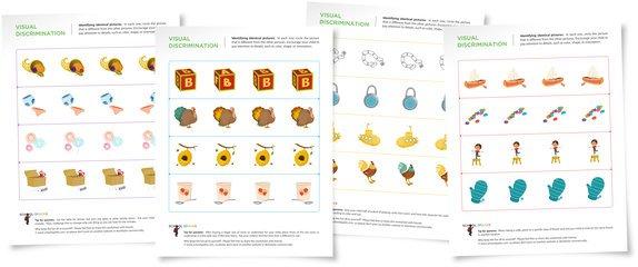 Visual Discrimination Worksheets