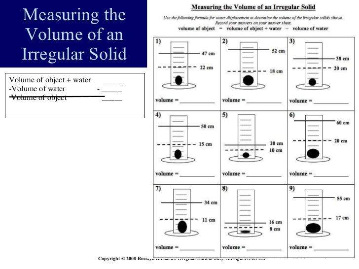 Volume Of Irregular Solids Worksheet Worksheets For All