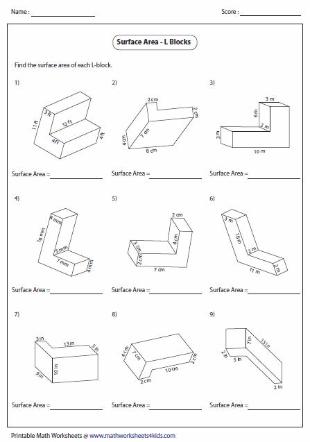 Volume Of Solid Figures Worksheet Worksheets For All