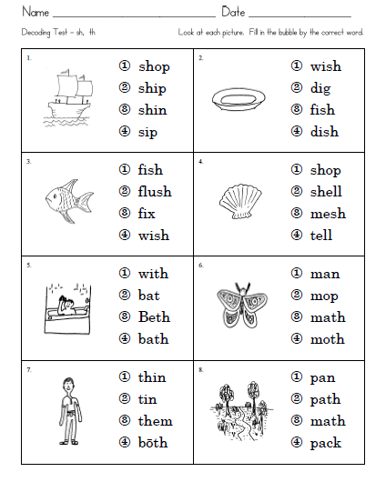 Word Worksheets For First Grade