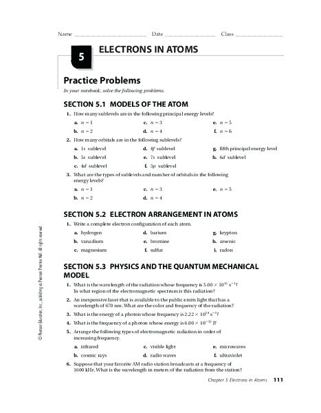 Worksheet Electrons In Atoms For Stunning Worksheet Electrons In