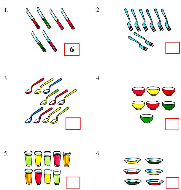 Worksheet On Counting Numbers 6 To 10