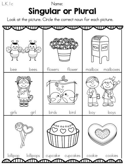 Worksheet Plural Nouns First Grade