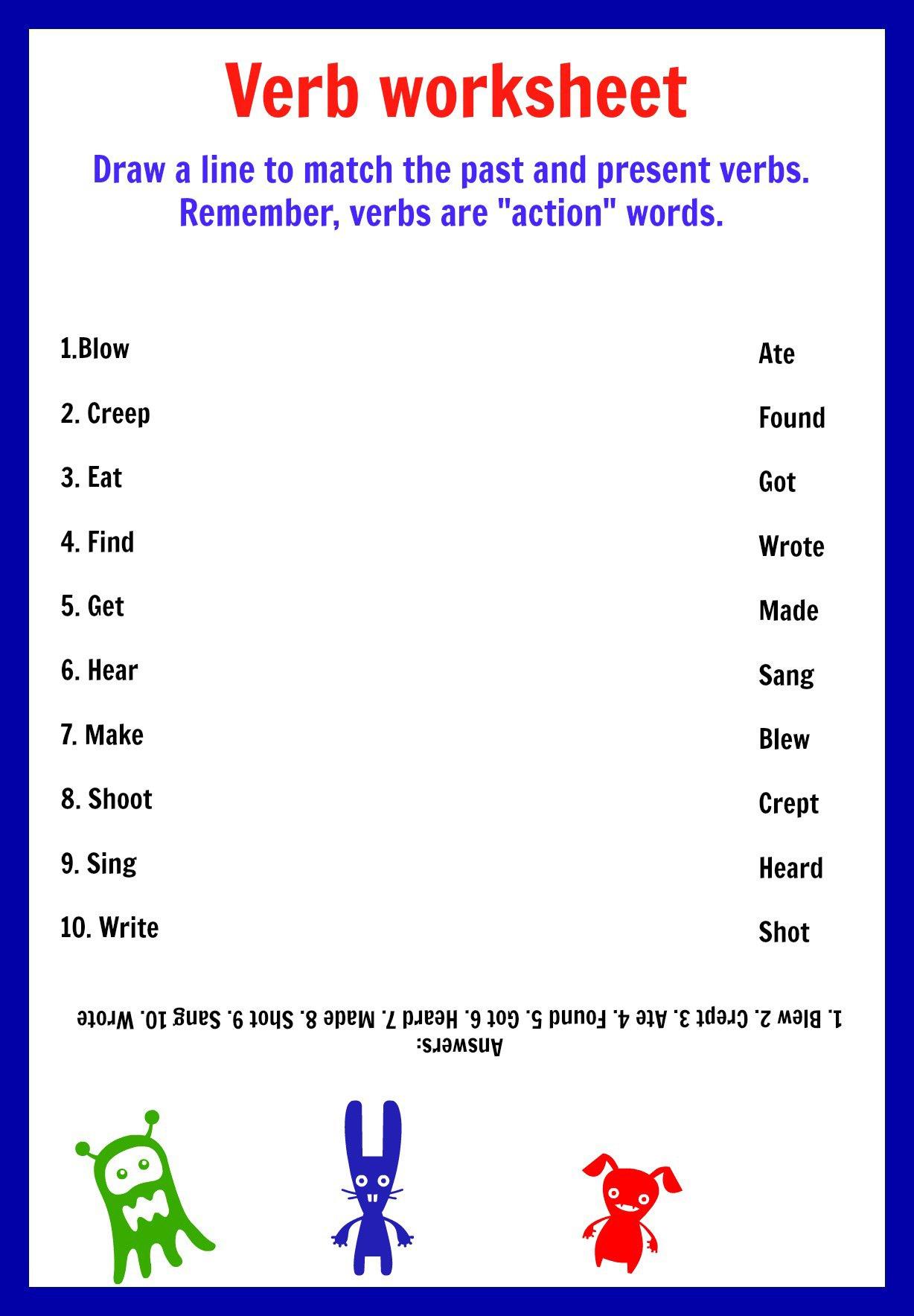 Worksheet Using Verb To Be
