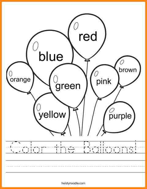 Worksheets 4 Year Olds