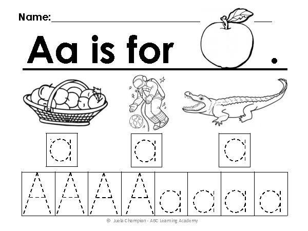 Worksheets For Alphabets Worksheets For All