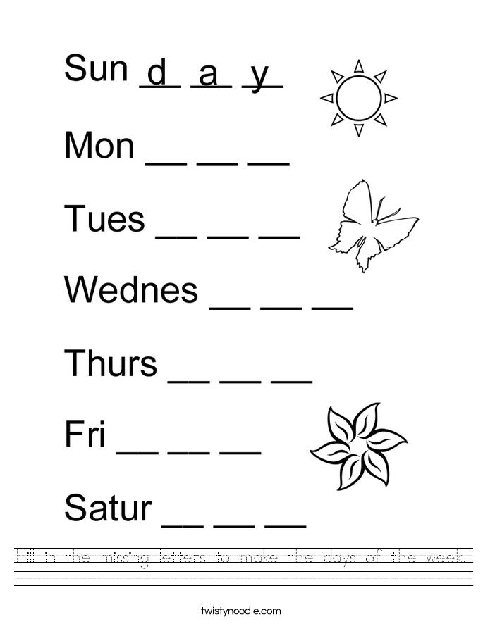 Worksheets On Days Worksheets For All