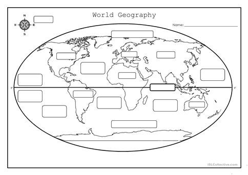 World Geography Worksheets Worksheets For All