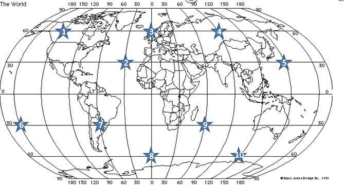 Latitude And Longitude Map Worksheets