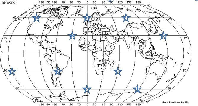 World Map Latitude And Longitude Worksheet Worksheets For All