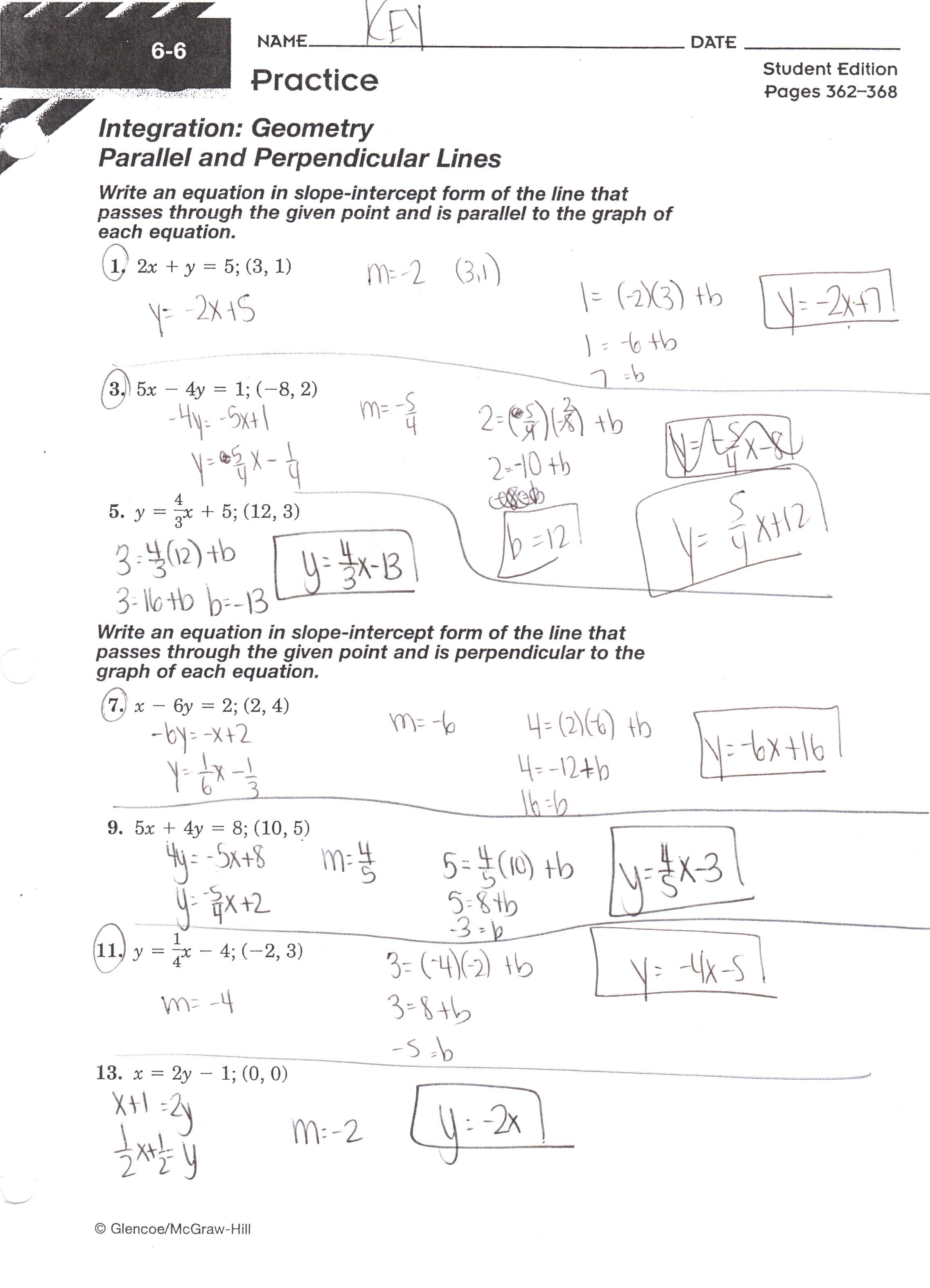 Writing Equations Of Lines Worksheets The Best Worksheets Image