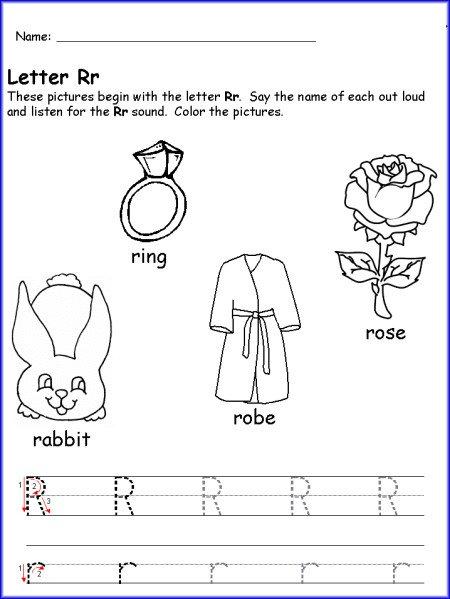 Writing Letter R Worksheet Kindergarten Free Worksheets Samples