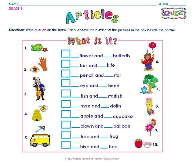 Year 1 Worksheets English Worksheets For All