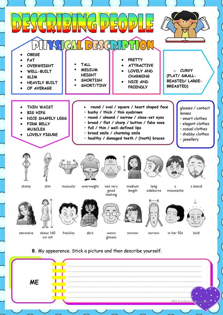 1087 Free Esl Describing People Worksheets
