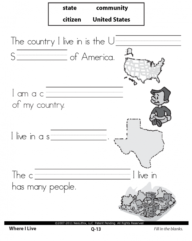 1st Grade Social Studies Worksheets  Worksheets  Kristawiltbank