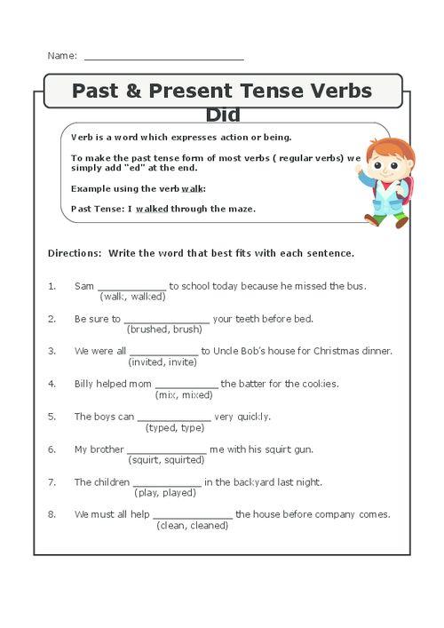 23 Best Verbs Worksheets Images On Free Worksheets Samples