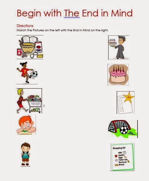27 Best Habit 2 Begin With The End In Mind Images On Free Worksheets Samples