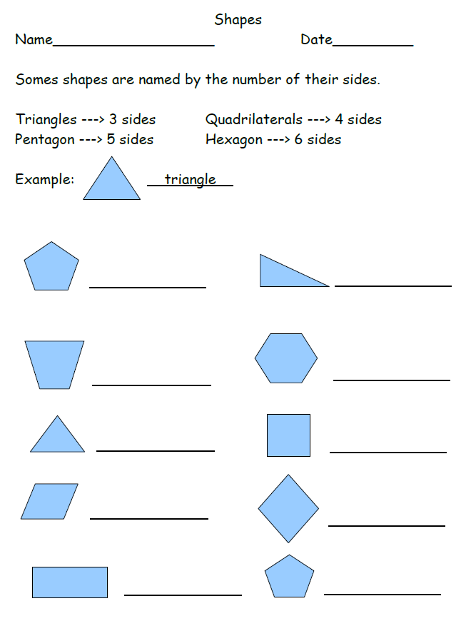 2nd Grade Shape Worksheets The Best Worksheets Image Collection