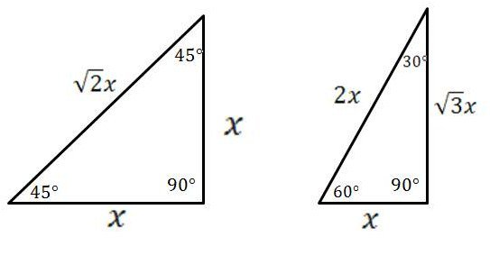 30 60 90 Triangle Worksheet Mathcounts Notes Special Right