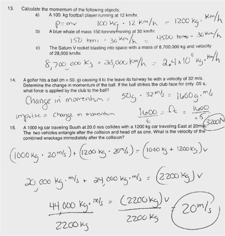 38 Momentum And Impulse Worksheet Pictures