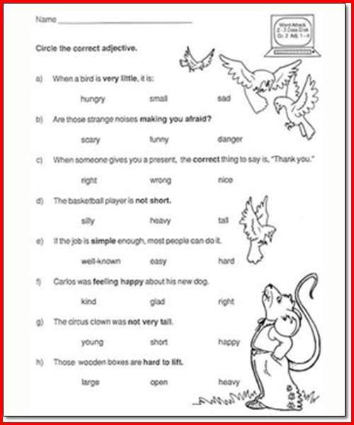 4th Grade Language Arts Printable Worksheets Worksheets For All