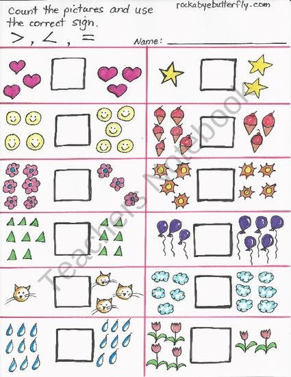 57 Best Math  Greater Than Less Than Images On Free Worksheets Samples