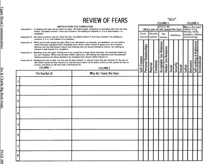 62 Best Aa 12 Step Work Sheers Images On Free Worksheets Samples