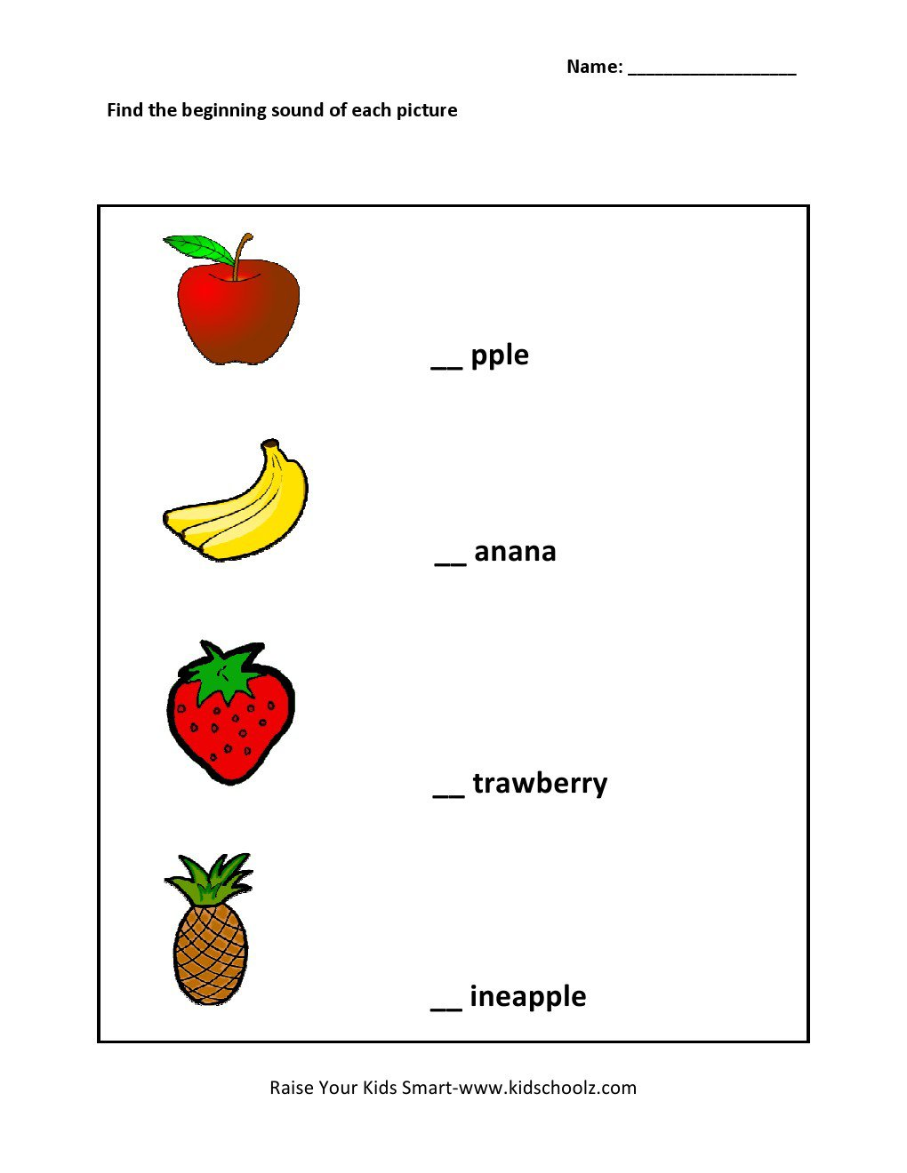 A An The Worksheets For Grade 1