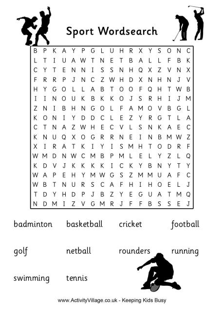 Activities And Sports Puzzles For Kids