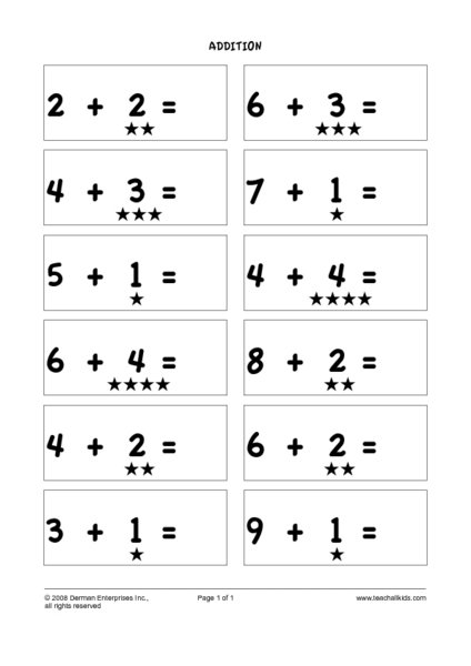 Addition Worksheets Counting On Worksheets For All