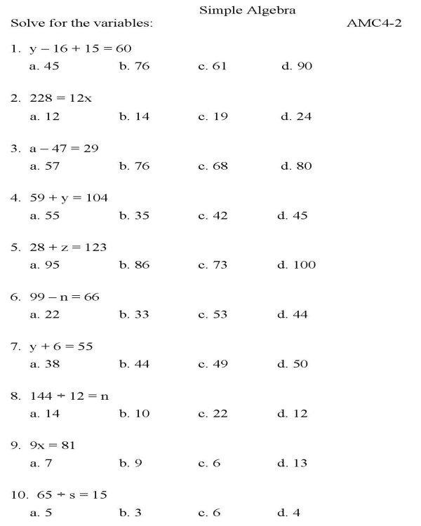 Algebra 2 Equations Worksheets Worksheets For All