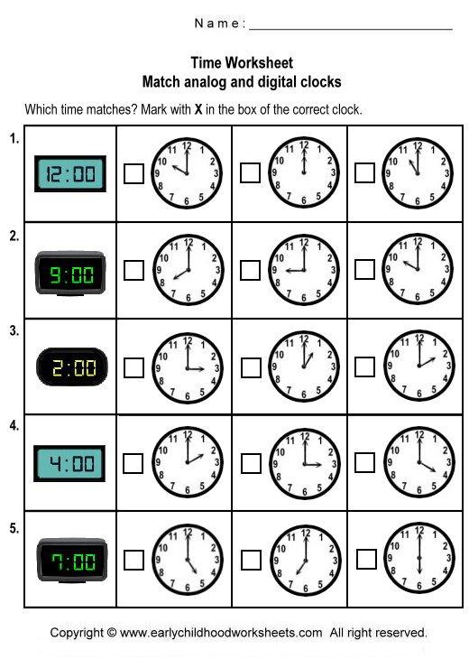 Analog Clock Practice Worksheets Worksheets For All